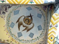 Detail of ceiling fresco on the church of St. Nicholas, Bachkovo Monastery
