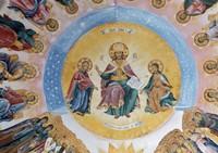 Fresco on the dome of the narthex of the church of St. Nicholas, Bachkovo Monastery