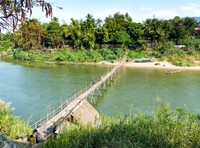 Bamboo bridge, Nam Khan, Luang Prabang