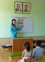 In the classroom at Chongjin Steelworks Kindergarten