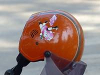 Motorcycle helmet, Siem Reap