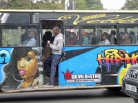 Bus on Kenyatta Avenue, Nairobi