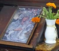 Icon with flowers, Saint Sofia church, Sofia
