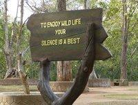 Sign near Periyar Lake