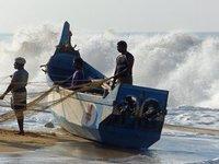 Fishing boat, Chowara beach