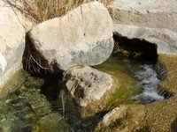 Boulders and stream, Wadi Tiwi