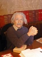 Einstein in his restaurant in Sofia!