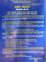 Rules for entering the Cu Chi Tunnels