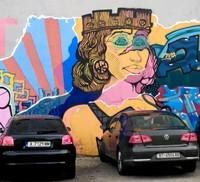 Street art in a Sofia car-park