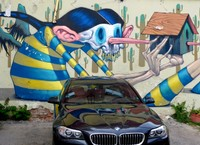 Street art in a Sofia car-park