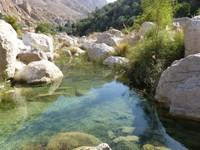 Mountain stream, Wadi Tiwi