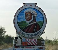 Lorry from Mali on the road near Kaolack