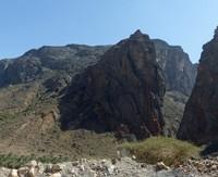 Nearing the end of our drive through Wadi Bani Awf
