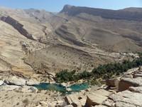 Looking down on Wadi Bani Khalid