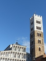 Lucca cathedral in sunshine