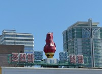Building near Pyongyang Central Station