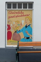 Old advertising poster, Reykjavik