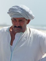 Fisherman on Al Haffa beach