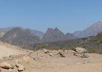 On the road through Wadi Bani Awf