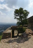 Fort ramparts from Suraj Pol - Chittaurgarh