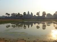 Angkor Wat across the southern pool
