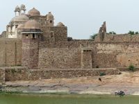 Reservoir with temple beyond - Chittaurgarh
