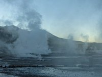 El Tatio geyser field, Atacama Desert - just before sunrise