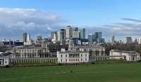 Queen's House and Naval College from the park