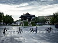 Driving through Kaesong - Namdaemun