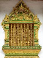 Window detail, Haw Pha Bang, Royal Palace