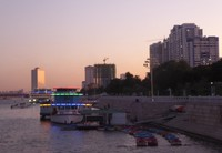 Banks of the Taedong River, early evening
