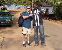 With Chris at Bijilo - Fajara