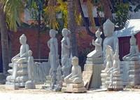 Stone carvings in Santuk