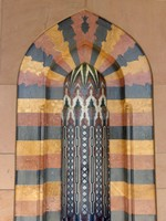 Decorative niche at the Sultan Qaboos Mosque, Muscat