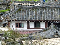 Old town house from Mount Janamansan, Kaesong