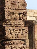 Qutb Minar, pillar detail - Delhi