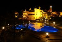 Khimsar Fort hotel at night - Khimsar