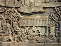 Bas relief at the Bayon - woman giving birth
