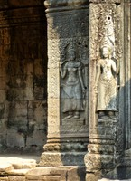 Devata carvings, the Bayon, Angkor Thom