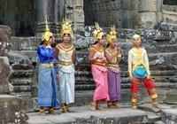 Dancers at the Bayon, Angkor Thom