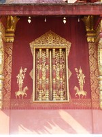 Wall and window, Wat Sensoukharam
