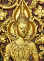 Door detail, Wat Sensoukharam