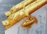 Staircase ornamentation, Wat Sensoukharam