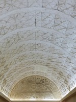 Carved calligraphy in a corridor, Jabrin Castle