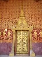 Main door, Wat Sensoukharam