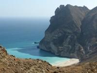 Looking down on Fazayah Beach