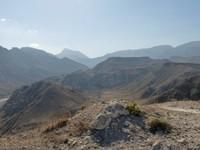 Mountain views near Fazayah Beach