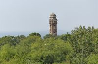 View of Victory Tower from Suraj Pol - Chittaurgarh