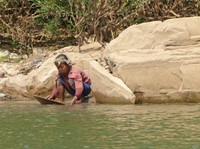 Panning for gold on the Nam Ou