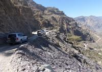 The road through Wadi Bani Awf